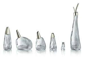 アレッシイからピーター・ズントーのガラス製調味料セットが発表