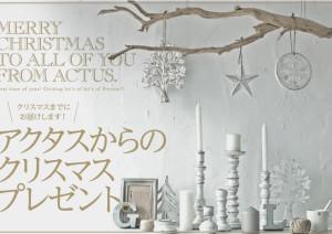 ACTUS(アクタス)からクリスマスプレゼントです