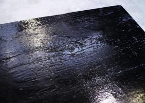 【仕上編】ラーチベニヤにアサヒペンの黒い油性ペンキを塗りました