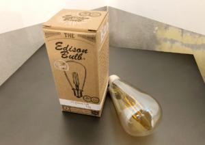 レトロな見た目のLEDエジソンバルブ電球を買いました